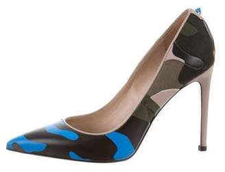 Valentino Psychedelic Camouflage Pumps