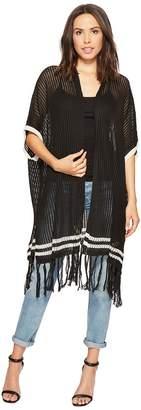 Michael Stars The Final Stripe Ruana Women's Sweater