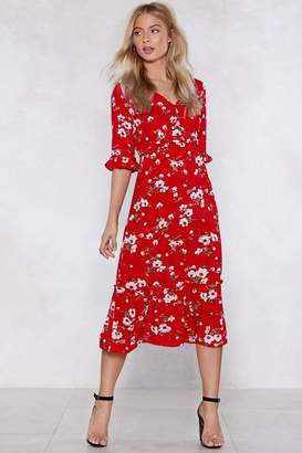 Nasty Gal Are You Floral Right Now Midi Dress