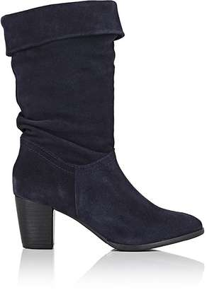 Barneys New York BARNEYS NEW YORK WOMEN'S SUEDE MID-CALF BOOTS $425 thestylecure.com