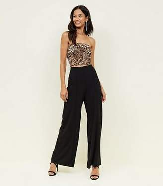 New Look Black Wide Leg Evening Party Trousers
