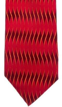 Gucci Geometric Print Silk Tie