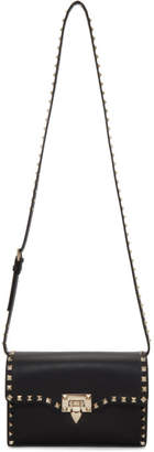 Valentino Black Garavani Medium Rockstud Flap Bag