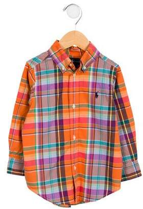 Ralph Lauren Boys' Plaid Button-Up Shirt