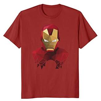 Marvel Iron Man Geometric Prism Shape Art Graphic T-Shirt