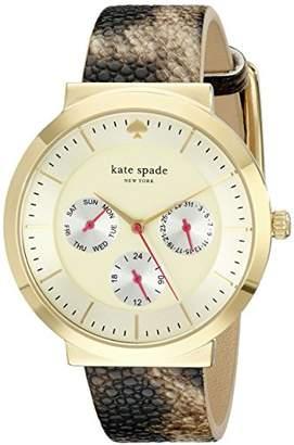 Kate Spade Women's 1YRU0511 Metro Watch with Stingray Leather Band