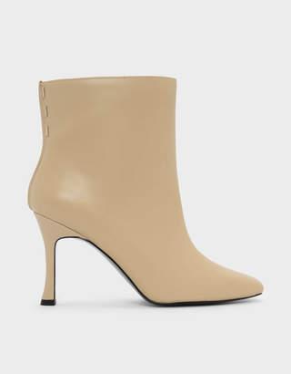 Charles & Keith Mini Square Toe Boots