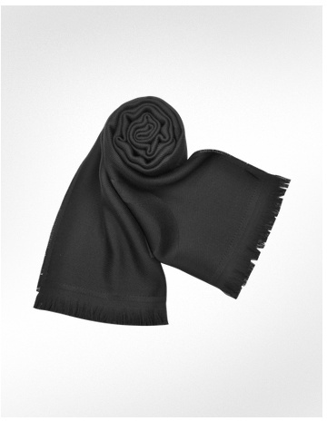 Givenchy Black Signature Knit Wool Scarf