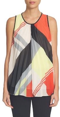 Women's Cece Graphic Colorblock Pleated Blouse $99 thestylecure.com
