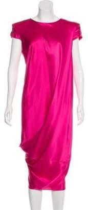 Alexander McQueen Structured Midi Dress Fuchsia Structured Midi Dress