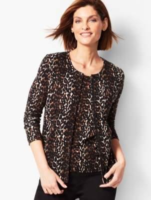 Talbots Charming Cardigan - Leopard