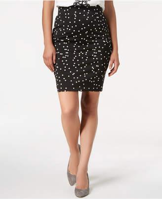 Alfani Petite Dot-Print Pencil Skirt, Created for Macy's