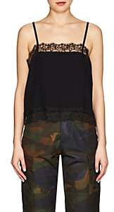 Icons Women's Lace-Trimmed Chiffon Cami - Black