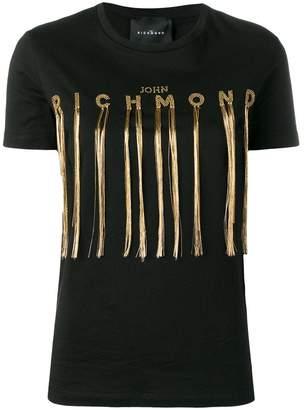 John Richmond logo embellished T-shirt