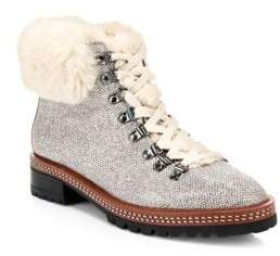 Kate Spade Roasted Peanut Rosalie Faux Fur Trimmed Boots