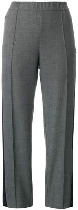 Barena tapered side stripe trousers