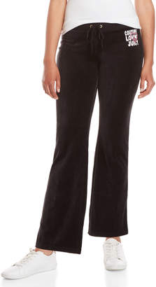 Juicy Couture Glitter Heart Velour Pants