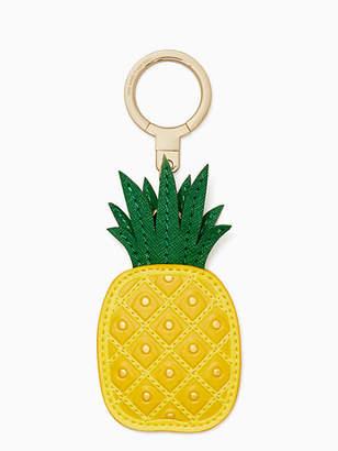 Kate Spade Leather pineapple keychain