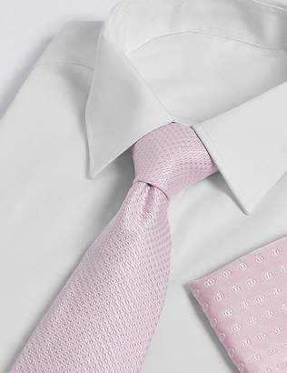 Marks and Spencer Pure Silk Mix & Match Geometric Hank & Tie Set