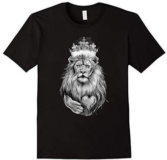 Lion Heart KING T Shirt | Tattoo Ink King T-Shirt