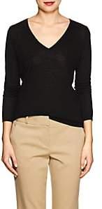 Barneys New York WOMEN'S SILK-CASHMERE V-NECK SWEATER - BLACK SIZE S