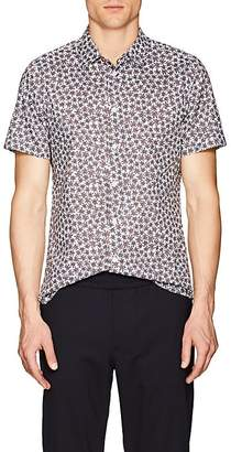 Paul Smith Men's Abstract-Floral Cotton Slim Shirt