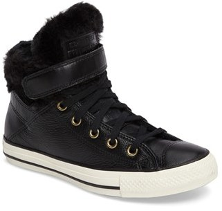 Women's Converse Chuck Taylor All Star Faux Fur High Top Sneaker $79.95 thestylecure.com