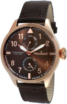 Peugeot Mens Rose-Tone Aviator Watch 2044RBR