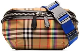Burberry multicoloured sonny vintage check canvas belt bag