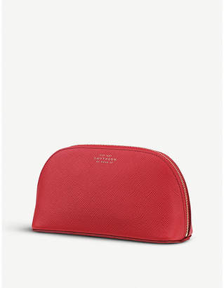 Smythson Panama grained-leather cosmetics case