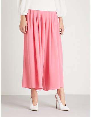 Emilia Wickstead Carla high-rise wide crepe trousers