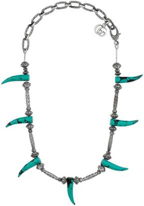Gucci Turquoise horn necklace
