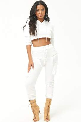 Forever 21 French Terry Hoodie & Jogger Set