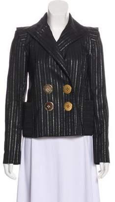 Marc Jacobs Metallic Long Sleeve Blazer