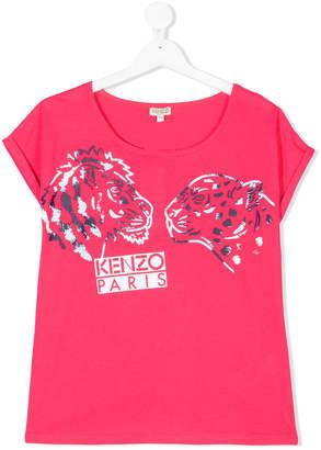 Kenzo tiger & lion print T-shirt