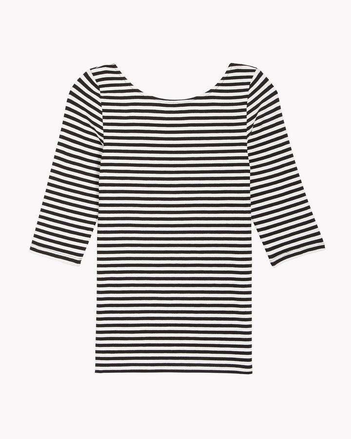 Back Scoop Neck Stripe Tee
