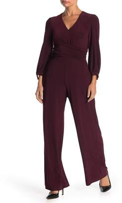 Taylor Surplice Long Sleeve Wrapped Jumpsuit