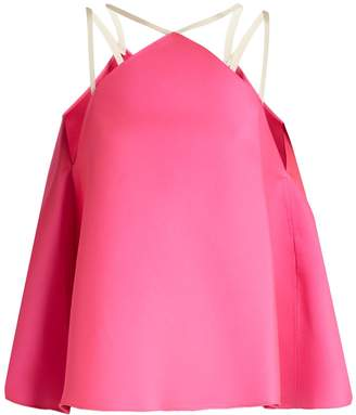 Maison Rabih Kayrouz Fluted duchess-satin top