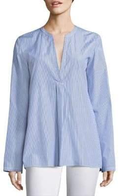 Theory Ofeliah Striped Cotton Shirt