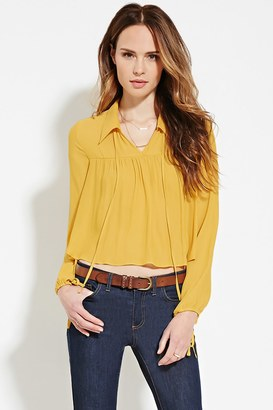 FOREVER 21+ Contemporary Collared Blouse $22.90 thestylecure.com
