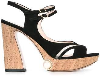 Nicholas Kirkwood 105mm Estella Pearl Platform sandals