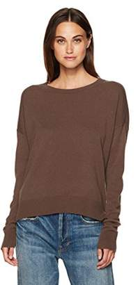 Vince Women's Cropped Wide Neck Cashmere Sweater