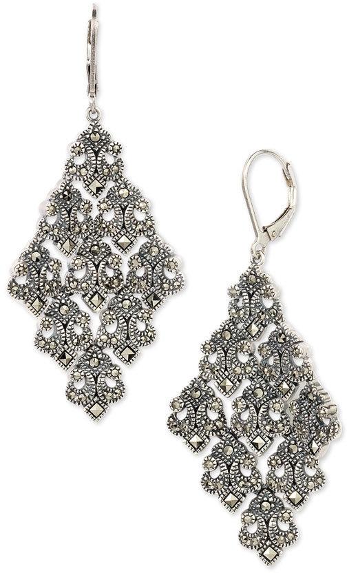 Judith Jack Large Chandelier Earrings