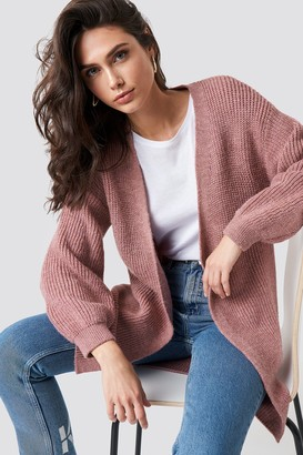 Trendyol Balloon Sleeve Knitted Cardigan Dusty Rose