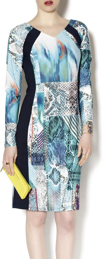Tribal Knit Printed Dress