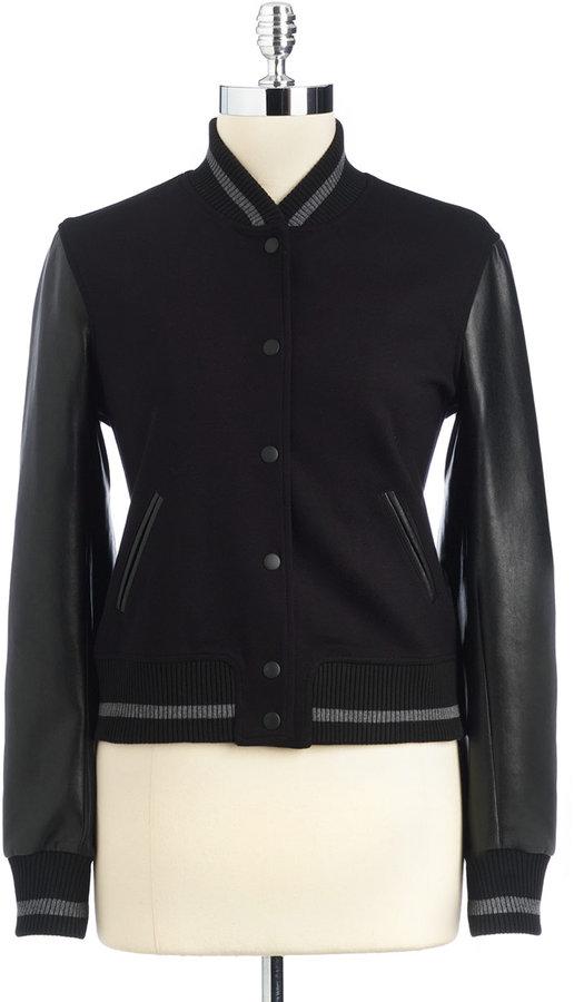 BAILEY 44 Faux Leather Varsity Jacket