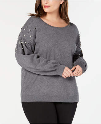 INC International Concepts I.n.c. Plus Size Embellished Sweater