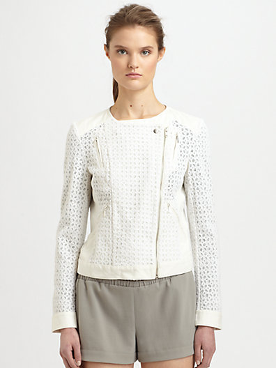 Vanessa Bruno Athe Crocheted Cotton Cropped Jacket