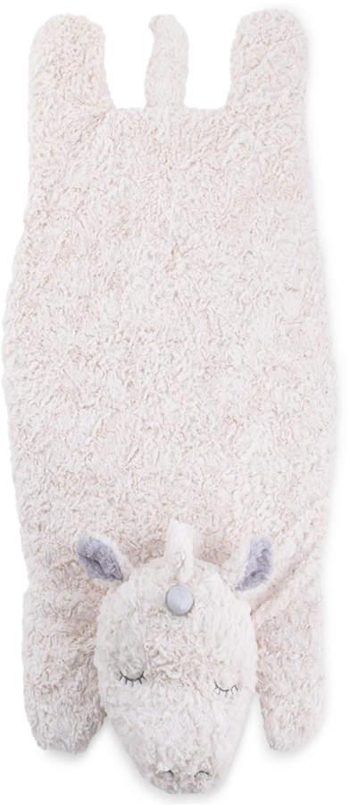 Cuddle Me Luxury Plush Tummy Time Mat Blanket Ivory Unicorn Bedding