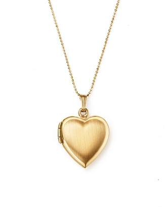 """Bloomingdale's 14K Yellow Gold Heart Locket Necklace, 22"""" - 100% Exclusive"""